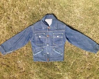 Vintage JC Penny's Boy's Type 2 Selvedge Pleated Denim Jacket