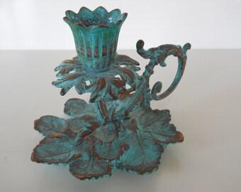 Vintage Virginia Metalcrafters Grape Cluster Brass Candle Holder
