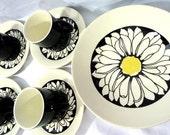 "Mid Century Mod  ""Its A Daisy""  Royal China Royal Ironstone Dishes"