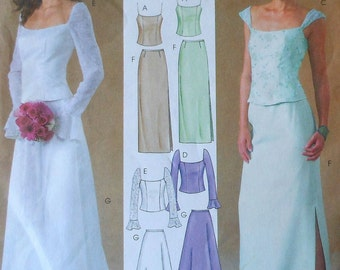 Formal Skirt and Top Sewing Pattern UNCUT McCalls 4298 Evening Elegance Sizes 4-10 wedding gown