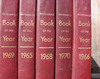 Britannica Book of the Year Collection  1960 1970 Yearbooks in History