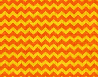 Timeless Treasures Fun Medium Orange Yellow CHEVRON Stripe Fabric...New..By The Yard...ZIGGY Collection