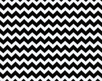 Timeless Treasures Fun Medium White BLACK CHEVRON Stripe Fabric...New..By The Yard...ZIGGY Collection