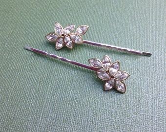 Upcycled Vintage Rhinestone Wedding Hair Pins,OOAK,Repurposed,Bride,Wedding