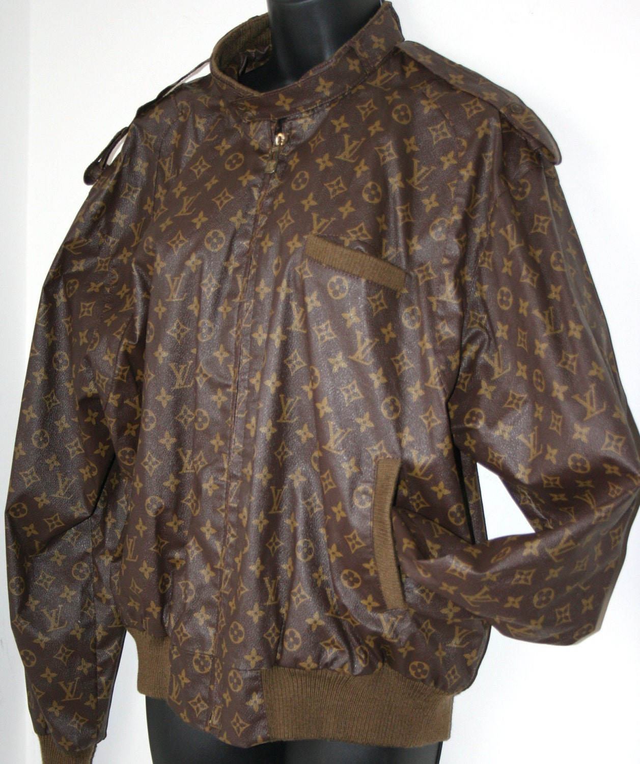 vintage louis vuitton 80s members only jacket size by. Black Bedroom Furniture Sets. Home Design Ideas