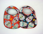 Sugar Skulls Baby Bibs - set of 2 bibs