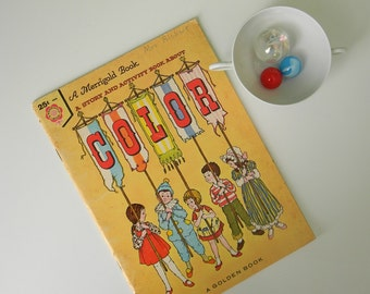 Vintage 1960s Story and Activity Book About Color - A Merrigold Book