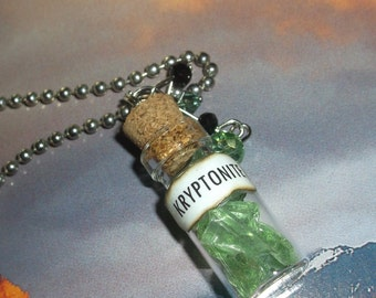 Kryptonite  / Mini Bottle Necklace - Free US Shipping!