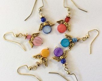 Earrings colorful angels