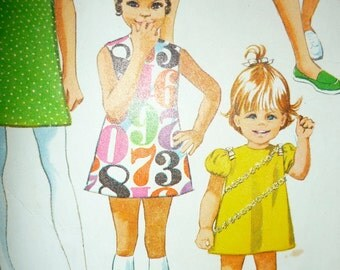 Vintage 1970's Girls Size 10 Dress or Top and Shorts Pattern