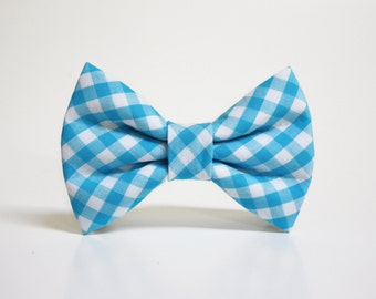 Dog Bow Tie- Gingham- More options available- dog collar accessory