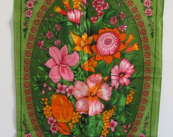 Vintage Lamont Linen Tea Towel Made in Ireland