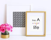 ART PRINT - Live A Colorful Life - By A Blissful Nest