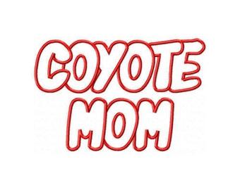 Coyoty Mom Embroidery Machine Applique Design 2622