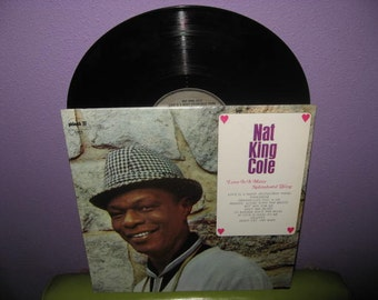 VINYL LOVE SALE Vinyl Record Album Nat King Cole - Love is A Many Splendored Thing Lp 1968 Crooner Classics Romantic Jazz