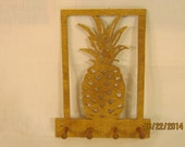 PINEAPPLE Key Rack Scroll Saw Plaque
