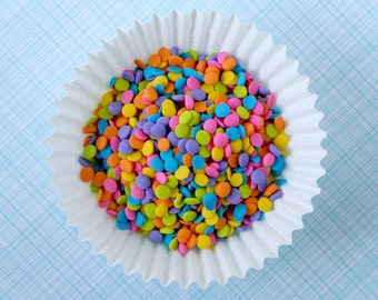 Neon Quins, Neon Rainbow Sprinkles, Neon Confetti Sprinkles for Cupcakes, Cakes, Ice Cream Sundaes (3 oz)
