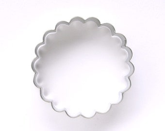 Scalloped Biscuit Cutter, Fluted Cookie Cutter, Metal Cookie Cutter