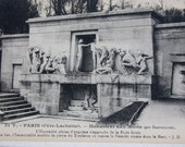 Postcards From Pere Lachaise Cemetary, Paris, France, French Souvenir, Circa Early 1900s, Goth Decor, Graves and Monuments