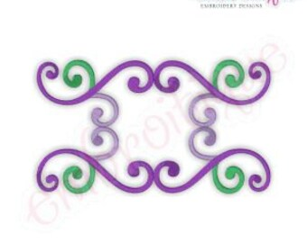 Kaiser Flourish Font Frame- Instant Email Delivery Download Machine embroidery design