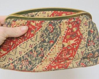Vintage 1940s Tapestry Clutch