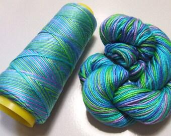100% Pure Mulberry Lyba Silk Yarn 50 gram 4 Ply DK LS004 Blue Moon Lot C