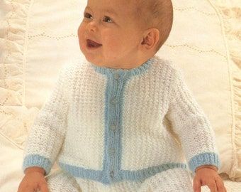 Baby Knitting PATTERN - Jacket/Sweater/Cardigan and Leggings/Longies 18-20 inch chest sizes DK