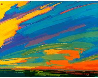 Open Edition Print - Prairie Sunrise 8 X 10