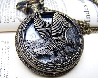 Locket Watch Necklace Vintage Inspired Neo Victorian Gift for Him