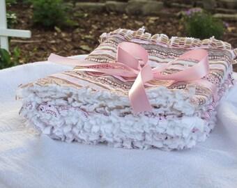 Baby girl rag burp cloths rag baby girl burp cloths pink paisley, shower, nursery