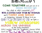 Beatles Baby Shower Invitation