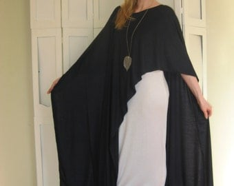 Multipurpose Shawl Cape Wrap Scarf Poncho Wedding - XLong Great for Layering Lagonlook - One Size - Rayon/Spandex Jersey (More Colours)