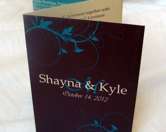 Plum & Teal Wedding Invitations - All in One Invites (148)