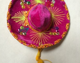MH002 Mexican Mini Colorful Sombrero Hat