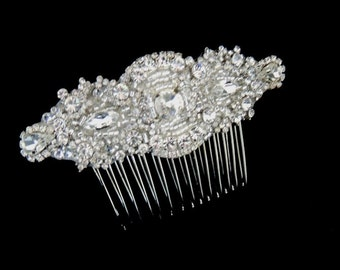 Vintage Inspired Bridal Crystal Side Hair Comb