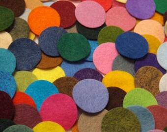 Wool Felt Circles 1 Inch 100 Die Cut