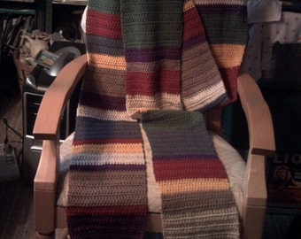 The Doctor in Autumn, 4th Doctor style scarf- made to order slot
