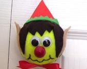 Christmas Elf Tennis Ball Ornament  (Boy)