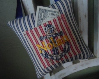 Anchors Aweigh! Tooth Fairy Pillow
