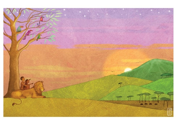 The Jesus Storybook Bible - Signed Giclee Print (Page 26-27)