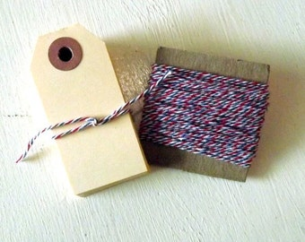 Cotton string Twine and Shipping Tags Set