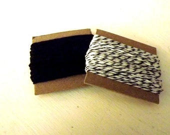 Divine Twine Black Licorice and Solid Black Twine 10 yards each 20 yards total