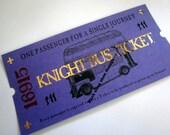 Wizarding Knight Bus Ticket (flawed)