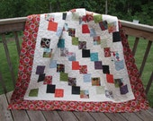 Tumbling Charms Lap or Twin Sized Quilt