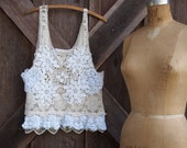 camisole/vest lace in ivory/white romantic