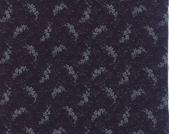 SNOWBIRD Moda fabric Shabby 1/2 yd quilting Edyta Sitar Moda Laundry Basket Quilts calico Late Night navy blue floral half yard 42170-20