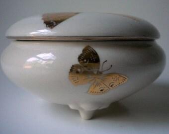 Vintage Takahashi San Francisco Butterflies Trinket Box