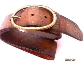 Unisex Belt, Belt for Men, Belt for Women, Brown Leather Belt, Woman's Leather Gift, Genuine Leather, Custom Leather, Unique Leather