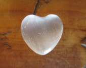 Reserved for Cheung White Selenite Gemstone Heart Selenite Heart Pocket Gem Energy Stone