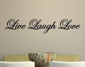Live Laugh Love Wall Decal Quotes Words Sayings Removable Home Wall Sticker Lettering